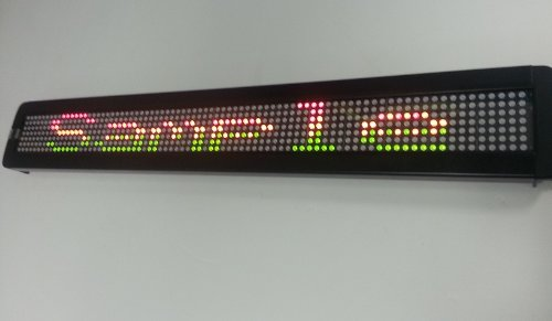 Light Master Led Programmable Moving Scrolling Sign 26''X4''X1.25'' Eight Colors N Modes!!