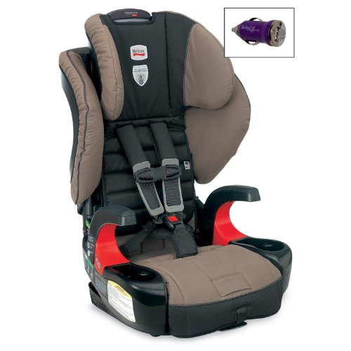 Britax Frontier 90 Booster Car Seat And Free Mini Auto Usb Adapter, Desert Palm front-989639