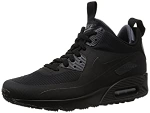 Nike Air Max 90 Mid Wntr, Men's Trainers, Black (Black/Black), 7 UK (41 EU)