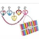 CHARM IT! Disney Princess Ariel, Snow White, Aurora Sleeping Beauty, Cinderella & Belle Charm Bracelet Set with Magnetic Jewelry Box
