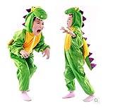 子供コスプレハロウィン着ぐるみフリースアニマル子供用恐竜コスチューム 猿コスチューム(L(105-120),A:グリーン)