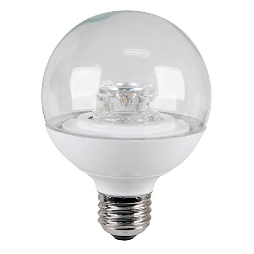 Utilitech 60-Watt (13.5W Equivalent) G25 Medium Base 596944 Warm White Dimmable Decorative Led Light Bulb