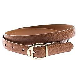 Ralph Lauren Womens Genuine Leather Skinny Belt M Tan