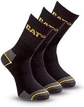 Comprar (6 pares) 2 x Paquete de 3 calcetines de algodón para hombre de trabajo de Caterpillar en Negro Tamaño del Reino Unido 6-11
