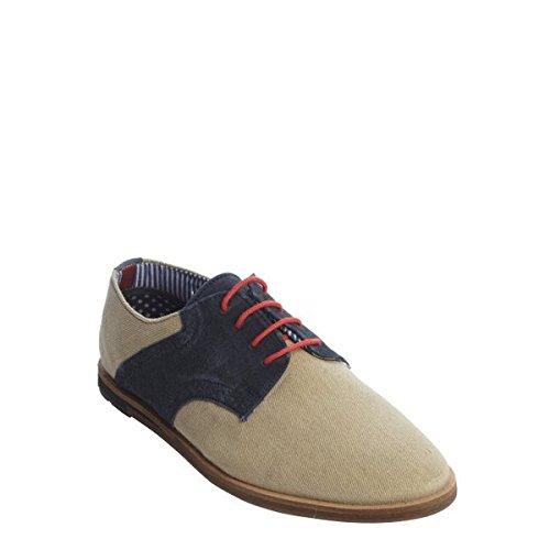 (ベンシャーマン) Ben Sherman メンズ シューズ・靴 オックスフォード beige canvas and navy suede 'Morris' oxfords 並行輸入品