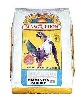 Sun Seed Company Bss14445 Miami Vita Mix Parrot Food, 25-Pound