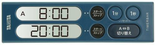 TANITA タイマーバーシリーズ ダブルタイマー 200分計 ダークブルー TD-404-DB