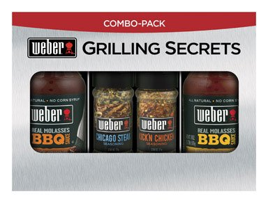 WEBER Grilling Sensations BBQ Sauce & Seasoning Pack Original & Buzz'n Honey Sauce Kick'n Chicken & Steak Seasoning