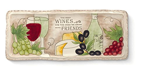 Wine Cheese Tray By Grasslands Road (Wine Themed Tray compare prices)