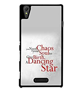 printtech Cool Quotes Dance Back Case Cover for Sony Xperia T3