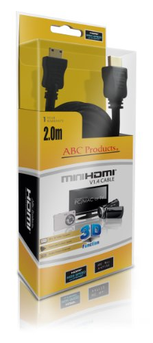 ABC Products® Mini C HD HDMI Kabel für JVC HD High Definition Everio & Picsio Camcorder Schließt ein GC Series: GC-FM1, FM2, WP10, XA1, GZ Series: GZ-E10, E15, E200, E205, EX210, EX215, EX250, EX255, GX1, HD3, HD5, HD6, HD7, HD10, HD30, HD40, HD300, HD310, HD320, HD340, HD500, HD510, HD520, HD620, HM50, HM200, HM300, HM320, HM340, HM400, HM440, HM445, HM450, HM550, HM650, HM670, HM690, HM860, HM960, MG645, MG670, MG680, MG750, MS110, MS230, MS250, X900, V500, V515, VX700, VX705, VX715 etc etc