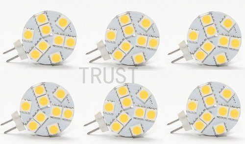 TRUST® 6pcs/Set Disc Type G4 LED Bulb - AC/DC