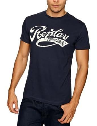 Replay M3145 Printed Men's T-Shirt Dark Blue LargeLargeReplay M3145 Printed Men's T-Shirt Dark Blue LargeM3145 .000.2660.500    L