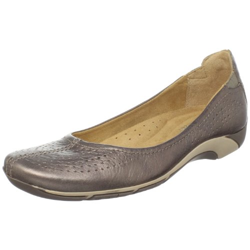 Naturalizer Women's Yadira Flat,Nickel Leather,7 WW US