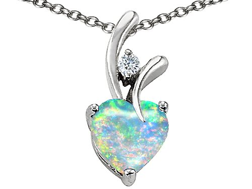 Mexican fire opal jewelry 195 cttw 925 sterling silver 14k white 195 cttw 925 sterling silver 14k white gold plated lab created heart shaped opal pendant aloadofball Choice Image