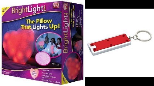 Bright Light Pillow-Pink Beating Heart-As Seen On Tv! In Retail Box! With Keychain Flashlight!