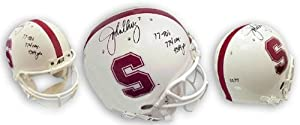 John Elway Stanford Cardinal Autographed Schutt Pro Helmet with Inscriptions 77 TDs,... by Sports+Memorabilia