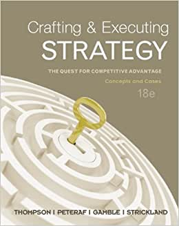 Crafting And Executing Strategy Thompson Strickland Gamble