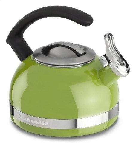 Kitchenaid 2-qt Steel Handle Band Tea Kettle Whistle Kten20cbkl Sunkissed Lime