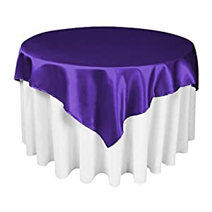 Amazon.com - Tablecloth Satin Overlay 60 Inch Purple By Broward Linens