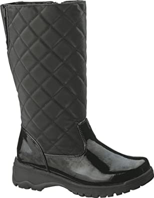 Soft Style Women's Polar Quilted Boots,Black,6 EW