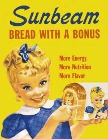 Sunbeam Bread Little Miss Sunbeam Retro Vintage Tin Sign