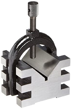"Brown & Sharpe 599-750-2 Single V-Block and Clamp, Hardened Steel, 0.0003"" Accuracy, 2"" Maximum Capacity, 2-1/2"" Length, 2-3/4"" Width, 2"" Height"