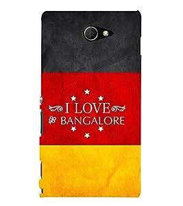 EPICCASE I luv bangalore Mobile Back Case Cover For Sony Xperia M2 (Designer Case)
