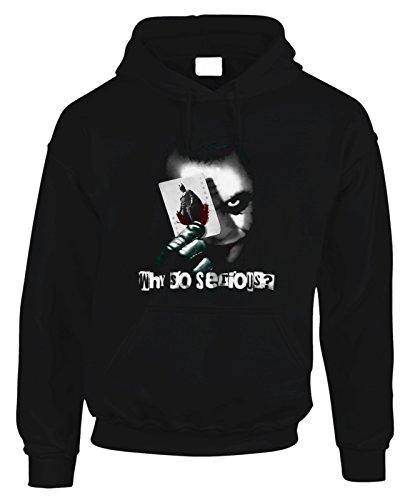 Felpa con cappuccio Joker Batman CINEMA FILM MOVIE in cotone by Fashwork