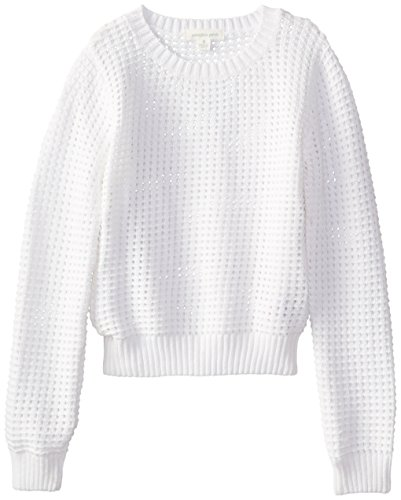 Pumpkin Patch Big Girls' Eyelet Jumper, Milk, 10
