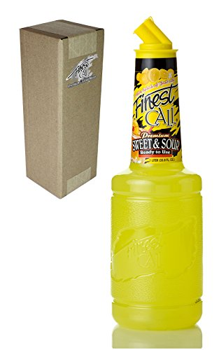 Finest Call Premium Sweet & Sour Drink Mix, 1 Liter Bottle (33.8 Fl Oz), Individually Boxed