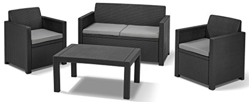 Allibert-219851-Lounge-Set-Merano-2-Sessel-1-Sofa-1-Tisch-Rattanoptik-Kunststoff-graphit