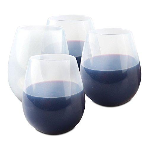 ORBLUE Verres à vin pour le camping en silicone souple , 454 g