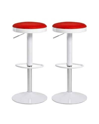 Aeon Furniture Set of 2 Carrie Stools, Red