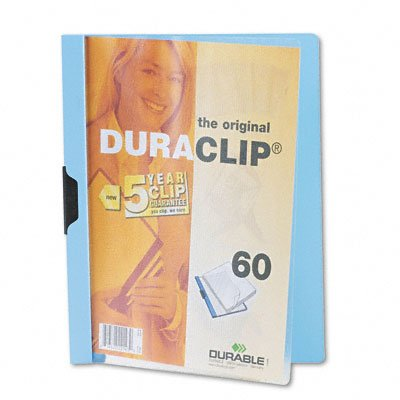 Duraclip clear front vinyl report cover, 60-sheet capacity, light blue - Buy Duraclip clear front vinyl report cover, 60-sheet capacity, light blue - Purchase Duraclip clear front vinyl report cover, 60-sheet capacity, light blue (Durable, Office Products, Categories, Office & School Supplies, Binders & Binding Systems, Report Covers)