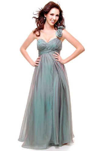 Prom One Shoulder Dress New Elegant Long Gown #663 (10, Sage)