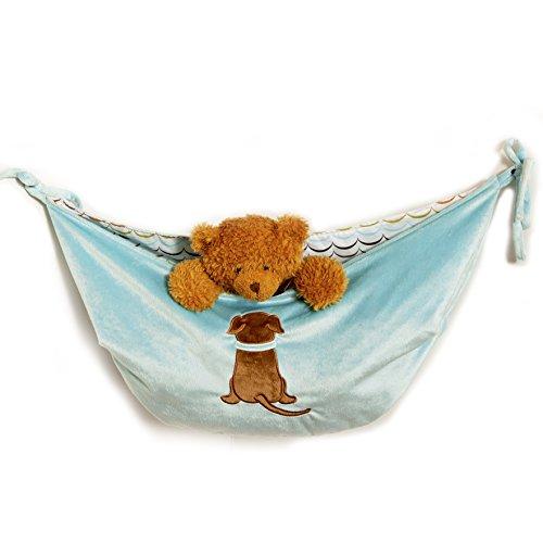 One Grace Place Puppy Pal Boy Toy Bag, Powder Blue, Sage Green, Chocolate Brown, Orange, White front-168711