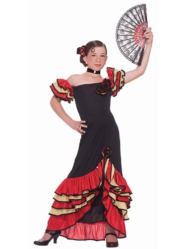 Flamenco Girl Child Costume Size Large