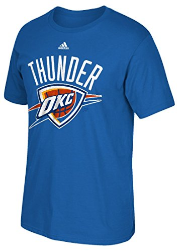 "Oklahoma City Thunder Adidas NBA ""Cut The Net"" Premium Print S/S Men's T-shirt Camicia"