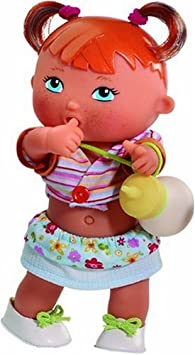 Paola Reina - 03057 - Poupée et Mini Poupée - Pia - Boit son biberon et fait pipi - Collection Les Bébés Meones - 22 cm