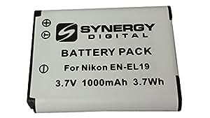 Nikon Coolpix S6500 Digital Camera Battery Lithium Ion (1000 mAh 3.7v) - Replacement For Nikon En-El19 Battery