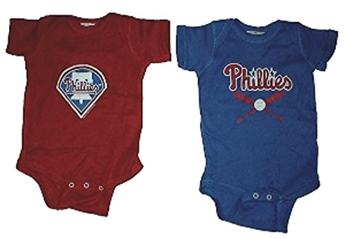 Philadelphia Phillies MLB Newborn Baby Creeper Home and Away Set (0-6)