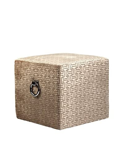 Zentique Karina Stool, Patterned Champagne