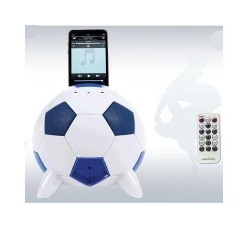 Speakal mi-Soccer 2.1 Stereo Speakers and Docking Station with 3 Speakers for iPod (Blue/White)
