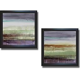 Purple Rain I & II by Lanie Loreth 2-pc Premium Satin-Black Framed Canvas Set (Ready to Hang)
