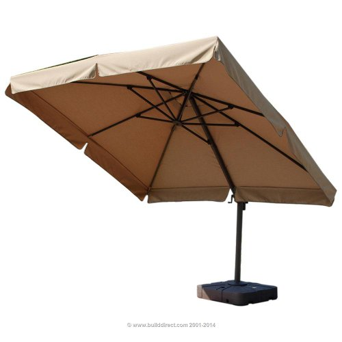 Kontiki Shade Cooling Offset Patio Umbrellas 10 Ft Ultra Deluxe