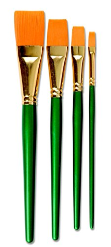 Sax Optimum Golden Taklon Flat Brushes - 1 inch