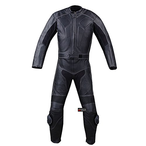 2PC MOTORCYCLE LEATHER RACING HUMP 2 PC SUIT ARMOR 46
