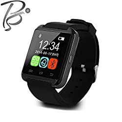 Blackseed U8 Advance Bluetooth Smart Watch Phone Mate for iOS & Android (Black) with Pedometer, Altimeter, Barometer, Thermometer, Sleep Monitor, Sedentary and Drink Reminder...