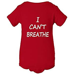 I Can't Breathe NYPD Protest Police One Piece Baby Bodysuit